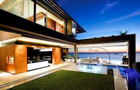 modern beach home designs with open plan dining room ideas using