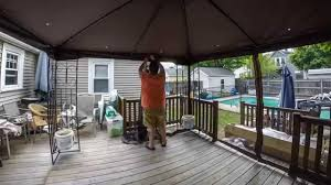 Lighted Music Gazebo by Putting Our Gazebo Together Youtube