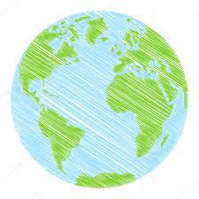 hand drawn globe u2014 stock vector kharlamova lv 61095709