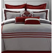 Red And Grey Comforter Size Queen Red Comforter Sets For Less Overstock Com