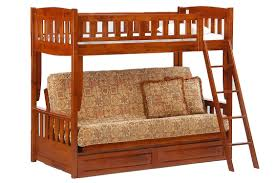 Futon Bunk Bed Cherry Cinnamon Twin Full Kids Bunk The Futon Shop - Futon bunk bed
