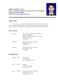 Resume Samples In The Philippines by Sample Resume Bsba Graduate Augustais