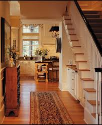 hall with kitchen design hall rustic with under stairs storage