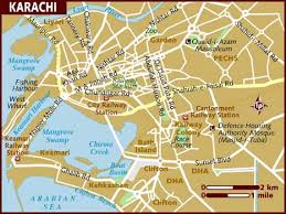 map of karachi map of karachi