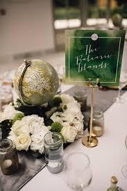 Travel Decor by Elegant Wedding At Lemore Manor With Green Fern U0026 Travel Decor