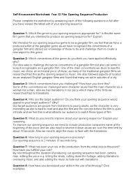 self assessment worksheet feb 2011 genre target audience