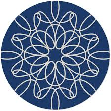 Round Natural Fiber Rug District17 Large Round Ribbon Rug In Blue And White Round U0026 Oval