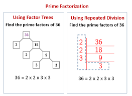 prime factorization using repeated division solutions examples