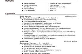Medical Biller Resume Sample by Account Billing Specialist Resume Reentrycorps