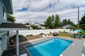 blue water pool house 4 bd vacation rental in manson wa vacasa