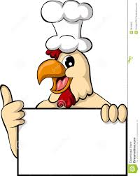 funny cartoon chicken with blank sign stock image image 29199601
