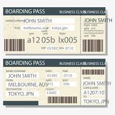 vector boarding pass template boarding pass template barcode