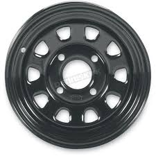 itp front rear black delta 12x7 steel wheel 1225544014 atv u0026 utv