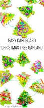 cardboard christmas tree garland craft arty crafty kids