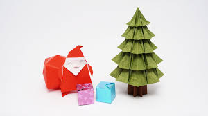 origami tree fabric ornamentsorigami