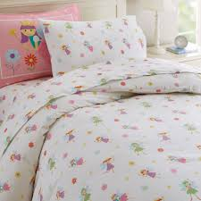 girls princess beds fairy princess bed sheet set for girls toddler twin or full cotton
