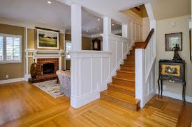 Home Design Stairwell Decorating Ideas And Brick Fireplace In