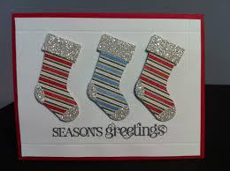 stocking punch handmade christmas card goldstar glitter