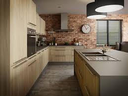 idee mur cuisine idée cuisine brique lofts industrial and kitchens