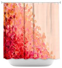 Pink And Orange Shower Curtain Shower Curtain Unique From Dianoche Designs Creation In Color