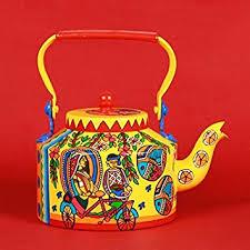 aluminum painted traditional tea kettle pot