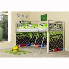 Mid Sleeper Bunk Bed Metal Loft Bunk Bed With Sport Zone Underneath For Toddler Boys