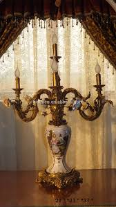 Italian Porcelain Chandelier Luxury Baroque Table Lamp With Brass Base Italian Antique Bronze