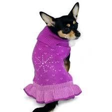 Dog Wedding Dress Rhinestone Snow Flakes Dog Sweater Dress Dog Clothes Dog Dresses