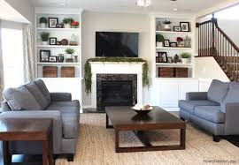 Styled Family Room Bookshelves How To Nest For Less - Family room shelving