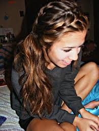 hair styles in two ponies two french braids and a side pony hair and beauty pinterest