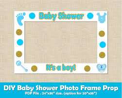 baby shower frames baby shower photo frame prop boy printable diy picture frame