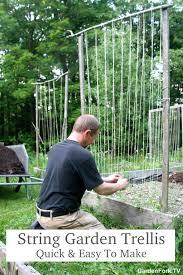 how to build a trellis for your vegetable garden gf video diy
