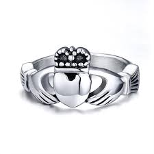 the claddagh ring women s titanium steel claddagh ring traditional wedding
