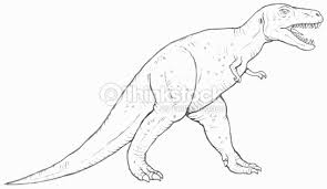 line drawing of trex dinosaur stock illustration thinkstock