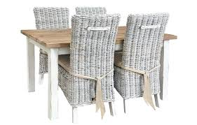 Outdoor Rattan Armchairs White Wicker Dining Table And Chairs U2013 Mitventures Co