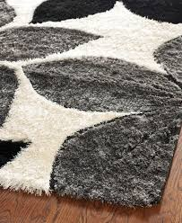 Modern Shag Area Rugs Black And Gray Area Rugs To Enhance The Of Your Home Floor