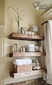 Bathrooms Shelves Bathroom Design Wooden Bathroom Shelves Counter Decor