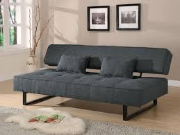 tweed like fabric sofa bed futon dark grey color tweed like fabric