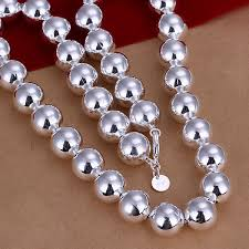 sterling silver necklace beads images N068 925 silver necklace chain 12mm wide hollow smooth big ball jpg