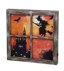 lighted halloween witch window wall art halloween decorations