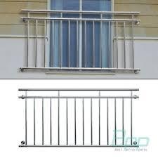 balkon gitter französischer balkon gläzend balustrade 128x90 cm edelstahl