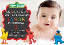 Customized Birthday Invitation Cards Colors Elmo Birthday Invitations