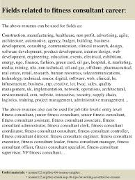 Fitness Resume Top 8 Fitness Consultant Resume Samples