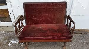 antique streetcar cast iron bench seat railroad railway trolley