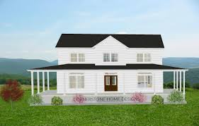 wrap around porch plans the magnolia farmhouse plan 2300 sq ft simple layout 2 story