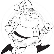 black and white clipart of santa claus collection