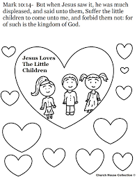 coloring page of jesus and children free download