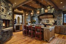 real eclectic kitchen interior design stone decoration ideas