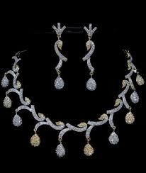 silver gold diamond necklace images Beautiful latest fashion bridal wedding gold silver platinium jpg