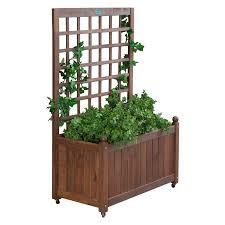 best planters jordan manufacturing wood planter box with trellis walmart best